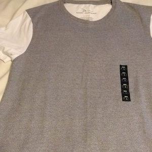 Marc Anthony black white checked T-shirt large xl